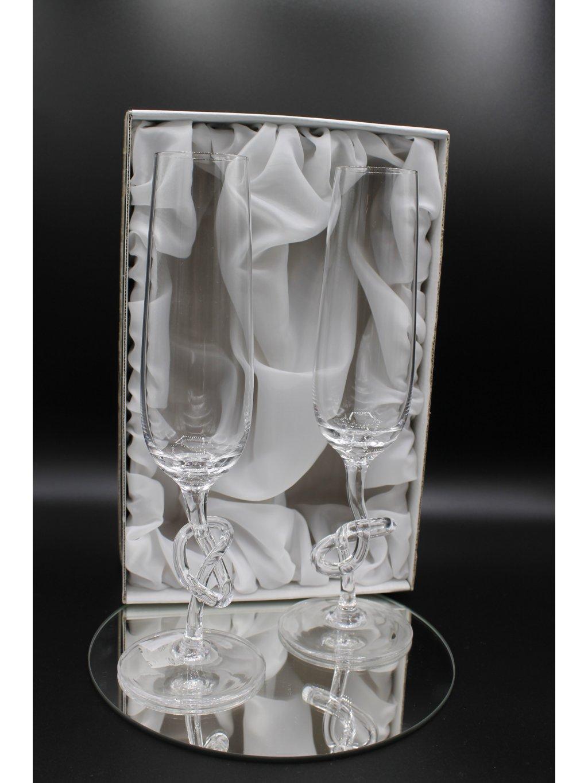 3747 kristalove sklenice na sekt se zatocenou nozkou 2ks