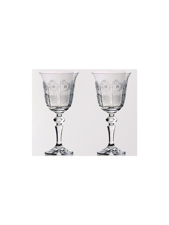 Křišťálové sklenice na víno 2 ks brus 220 ml