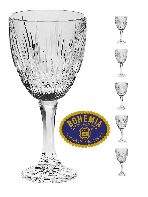 Křišťálové sklenice na víno 250ml  Bohemia Crystal, 6ks