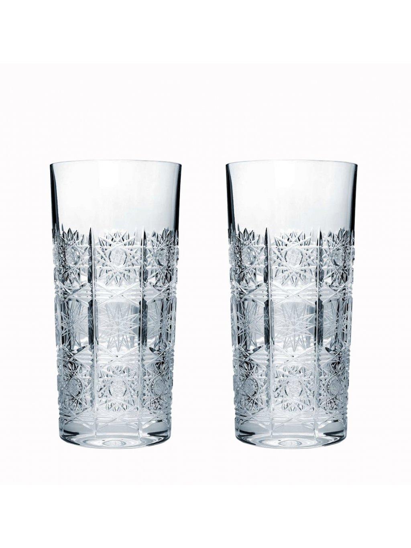 Křišťálové sklenice long 2 ks brus 350 ml