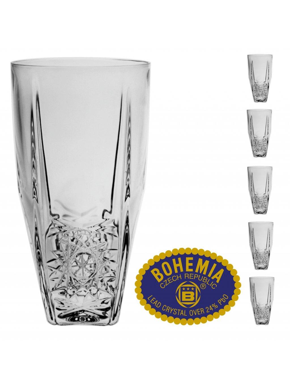 Křišťálové sklenice na vodu 350ml  Bohemia Crystal, 6ks