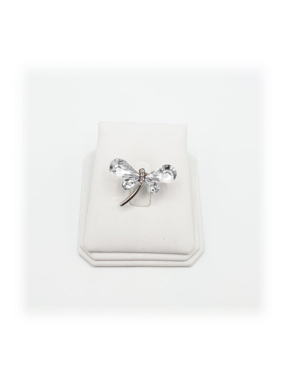 11600710cr Brož Vážka s kameny Swarovski® Crystal