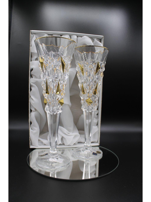 3762 kristalove sklenice sekt glacier 2ks