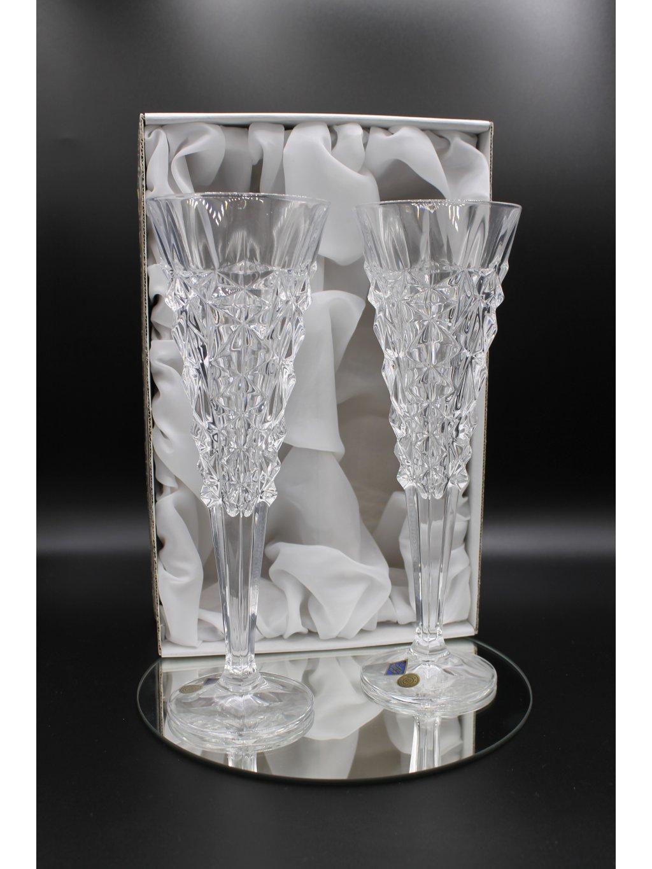 3804 kristalove sklenice sekt glacier bez pozlaceni 2ks