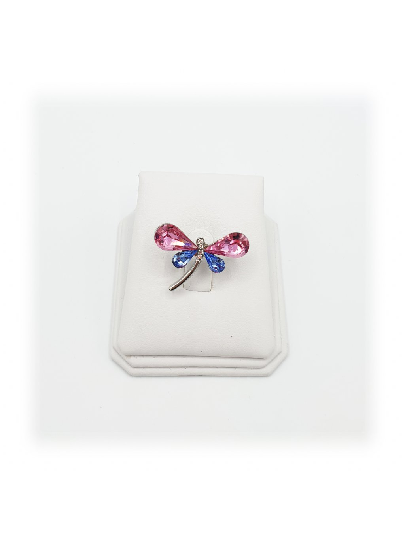 Brož Vážka s kameny Swarovski® Rose J11600710RO