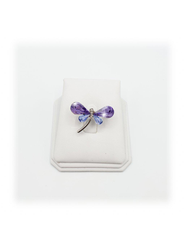 J11600710VIO Brož Vážka s kameny Swarovski® Violet
