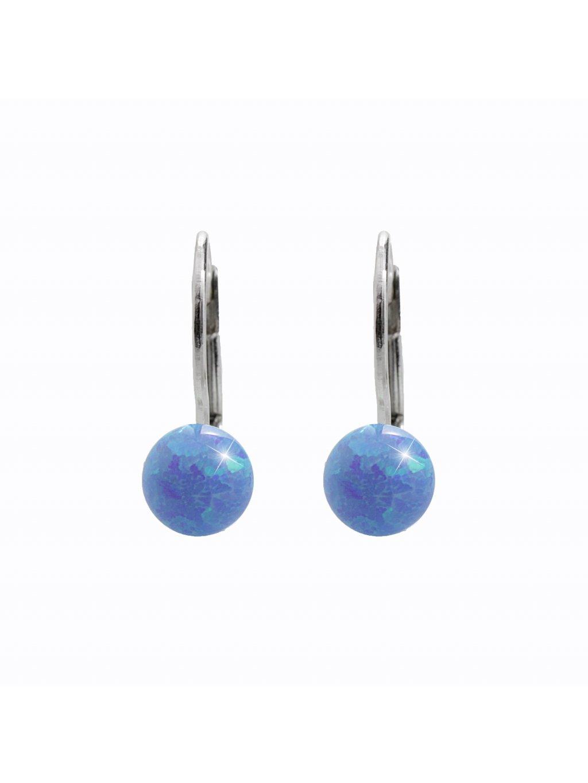 92401352blStříbrné opálkové náušnice modré