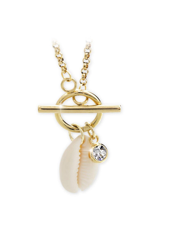 Náhrdelník Kauri mušle Swarovski® Gold 61300730g