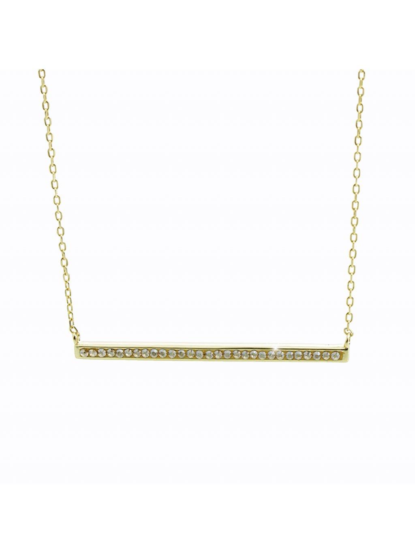 92300357gStříbrný náhrdelník Linka Swarovski gold