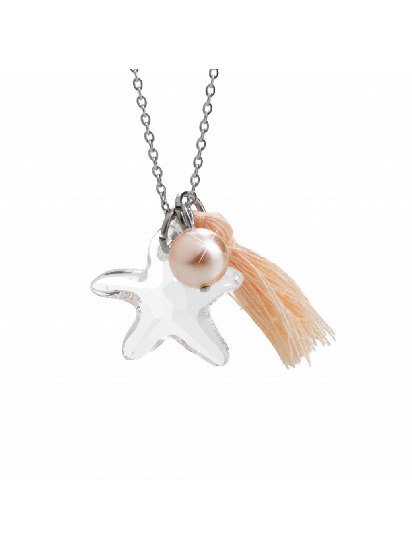 Náhrdelník Mořská hvězdice s ozdobou a kameny Swarovski® Crystals 61300736cr