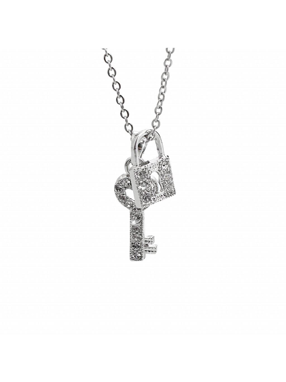 Náhrdelník Klíč se zámkem Swarovski® Crystal 61300742cr