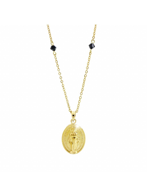 Náhrdelník s medailonkem Panny Marie Swarovski® Gold 61300745g