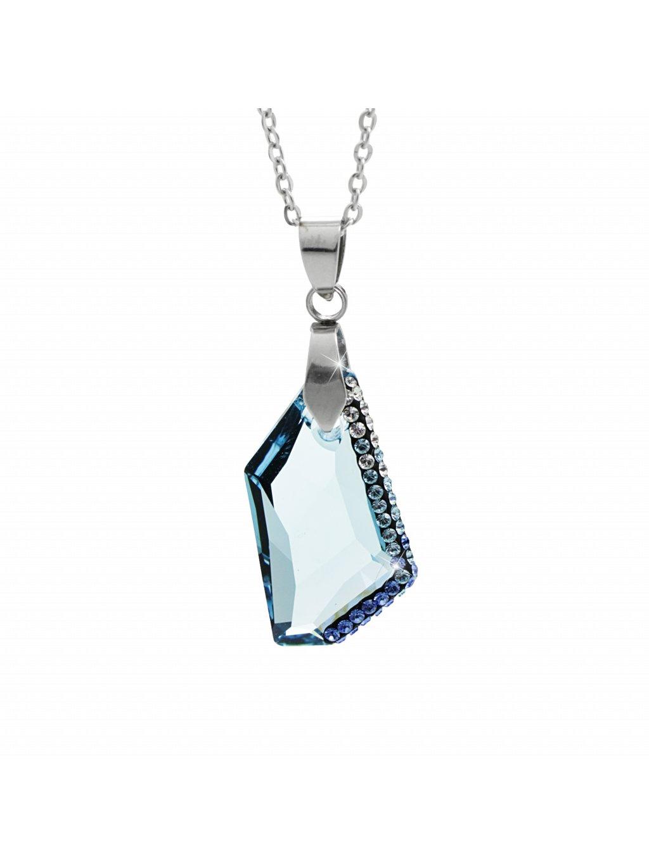 Náhrdelník Krystal Swarovski® Aquamarine 24 mm 61300752aq