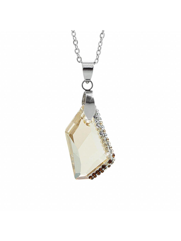 Náhrdelník Krystal Swarovski® Crystal Gold Shadow 24 mm 61300752gsh