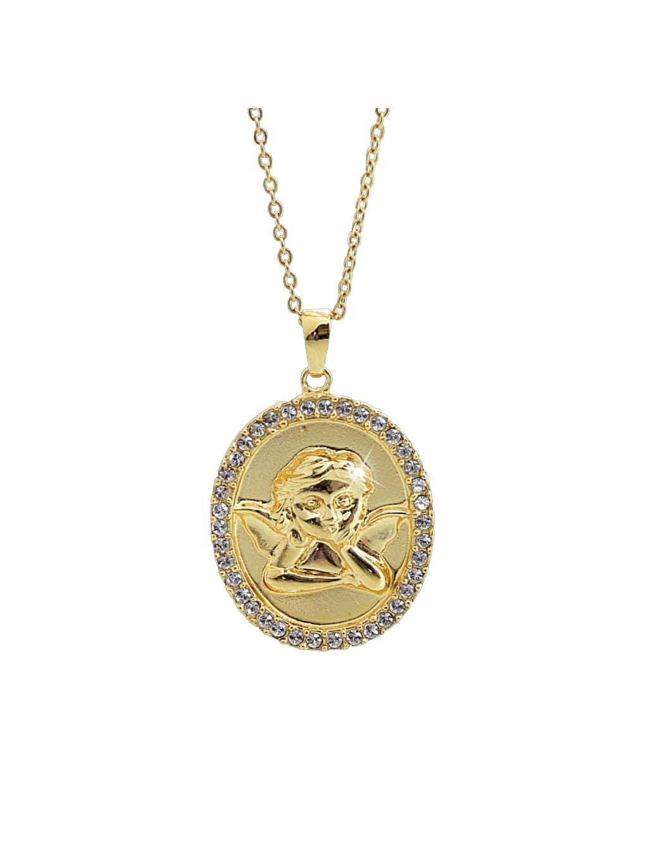 61300753g crNáhrdelník Andělský Medailonek swarovski gold