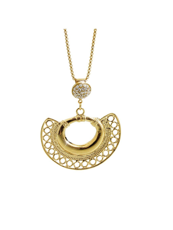 Náhrdelník Vějíř Swarovski® Crystal Gold 61300755g gsh