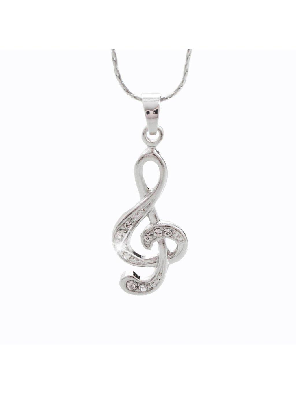 Náhrdelník Houslový klíč midi s kameny Swarovski® Crystal