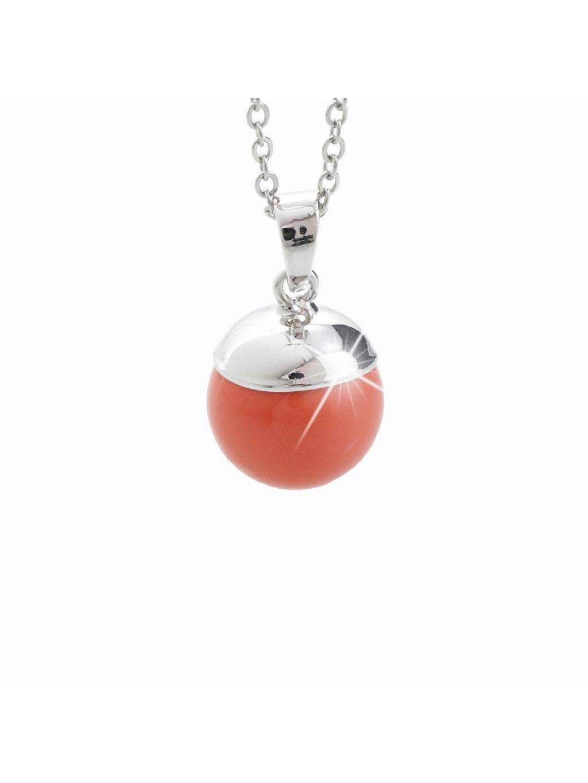 Náhrdelník Perla Swarovski® Coral Pearl
