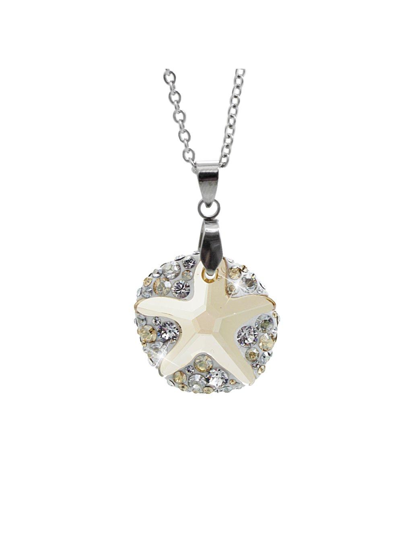 Náhrdelník Mořská hvězdice ponořena do kruhu Swarovski® Gold Shadow 61300763gsh