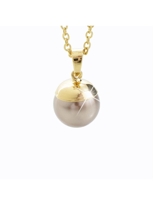 Náhrdelník Perla Swarovski® Gold