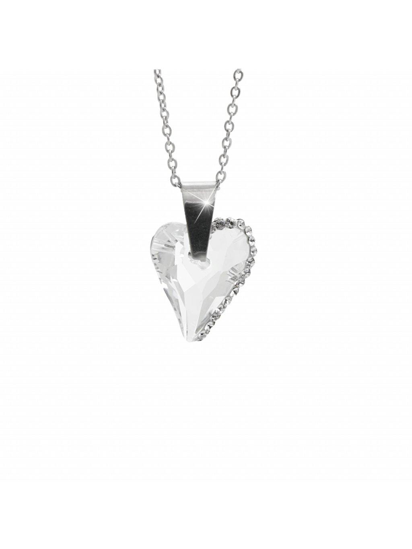 Náhrdelník srdce osázené kamínky Swarovski® Crystal 61300774cr