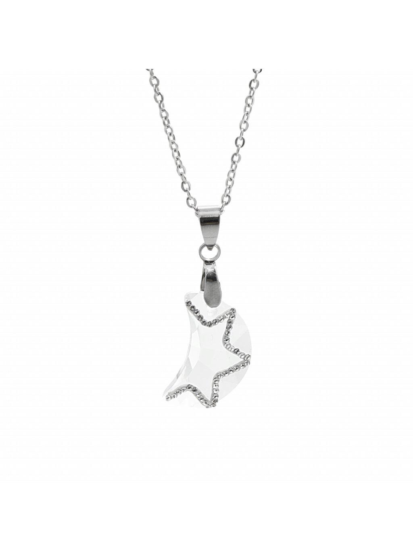 Náhrdelník Půlměsíc Swarovski® Crystal 61300776cr