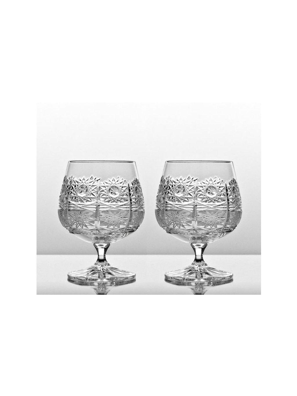 70 kristalove sklenice brandy 2 ks brus 250 ml 40001