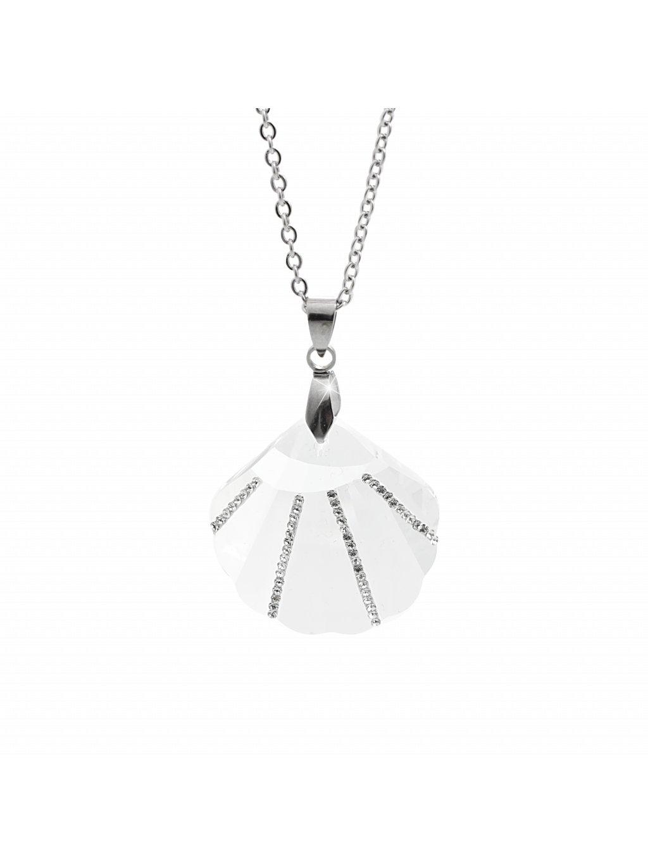 Náhrdelník Mušle Swarovski® Crystal 28 mm 61300780cr