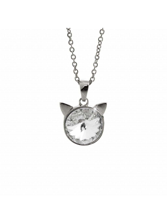 Náhrdelník Hlava kočky Swarovski® Crystal 61300783cr