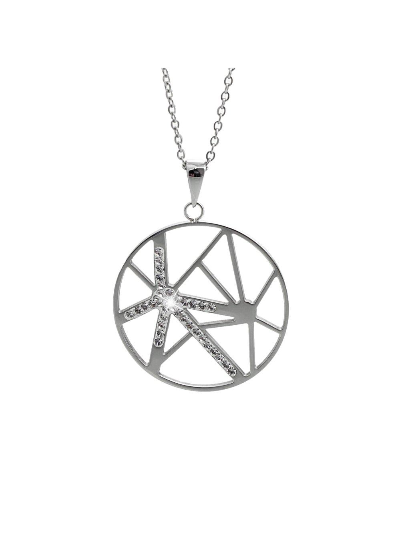 Náhrdelník Praskliny v kruhu Swarovski® Crystal 61300785cr