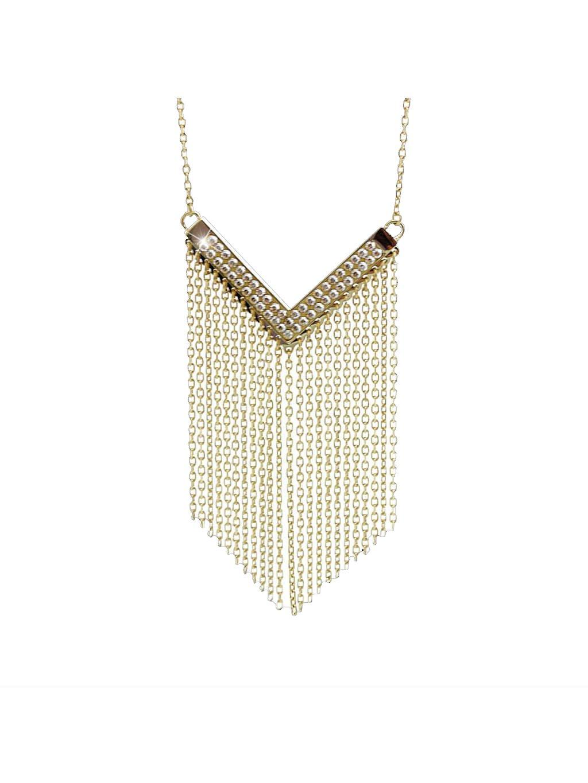 Náhrdelník Vodopád Swarovski® Gold Crystal 61300794g cr