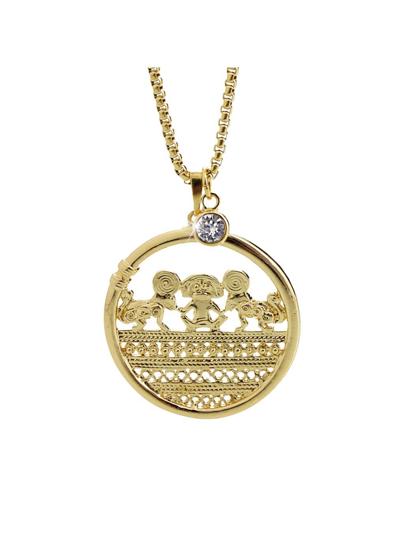 Náhrdelník Mayské kolo Swarovki® Gold Crystal 61300798g cr