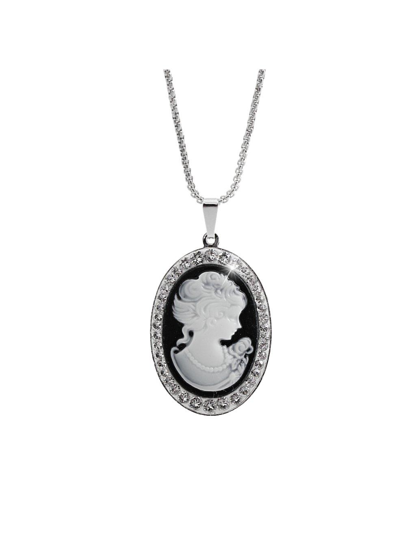 Náhrdelník Medailon dáma v zrcadle Swarovski® Crystal 61300802cr