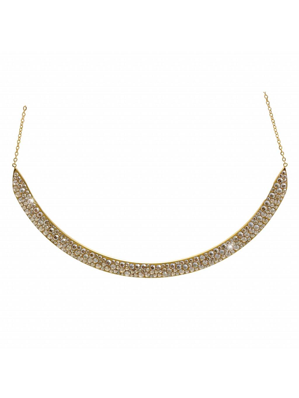Náhrdelník Oblouk Swarovski® Gold Gold Shadow 61300814g gsh