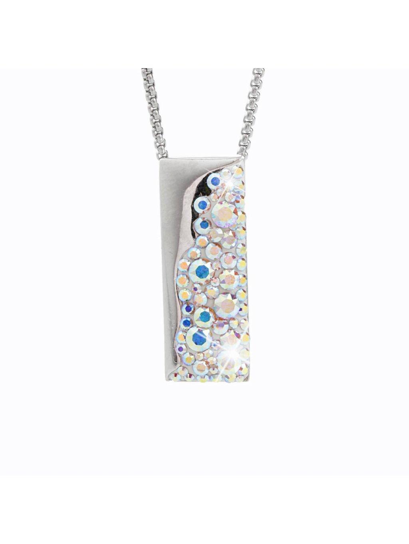 Náhrdelník Obdélník s kameny Swarovski® Crystal AB
