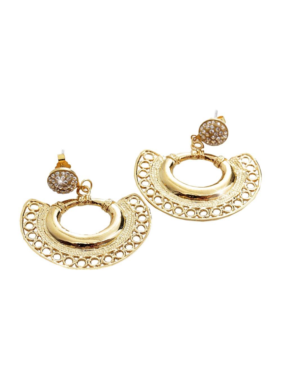 Náušnice Vějíř Swarovski® Crystal Gold 61400755g gsh