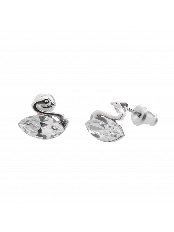 Náušnice Labuť Swarovski® Crystal 61400761cr
