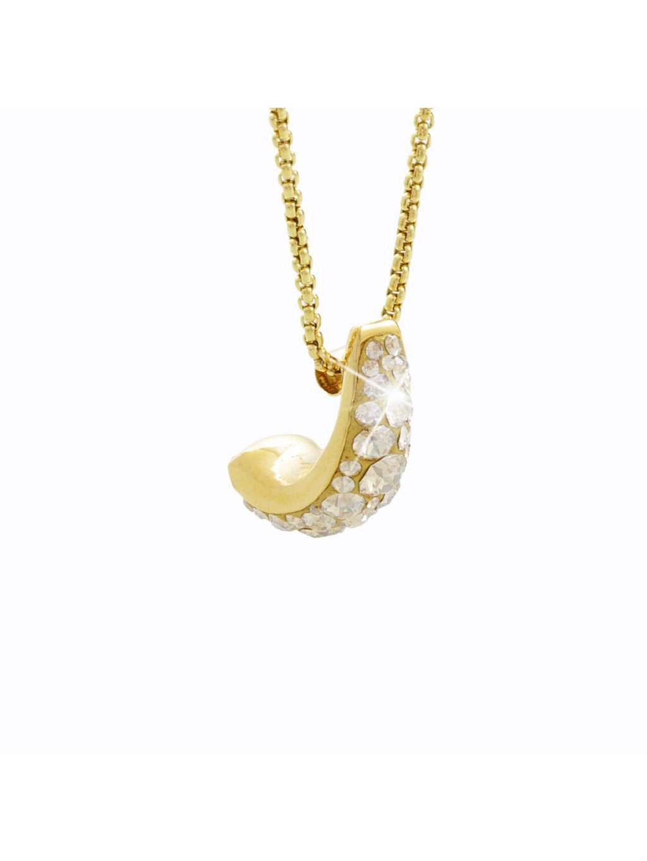 Náhrdelník Kreole s kameny Swarovski® Gold