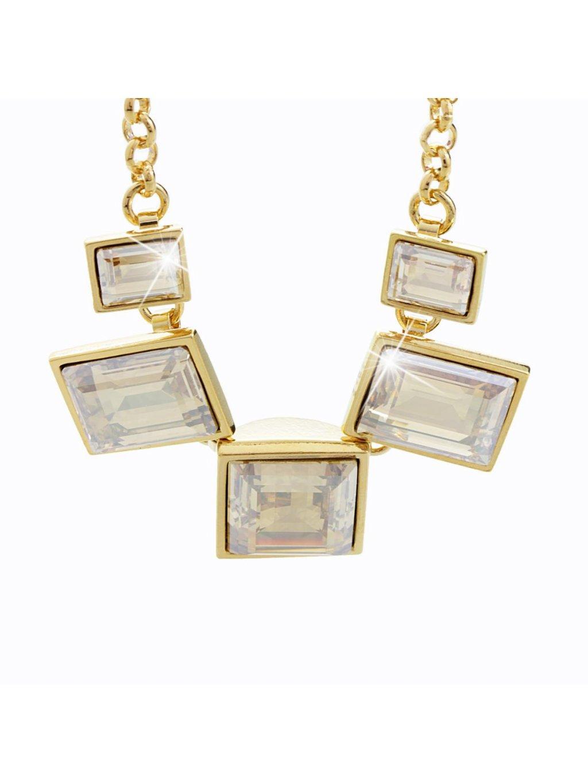 Náhrdelník 5 obdélníků s kameny Swarovski® Gold