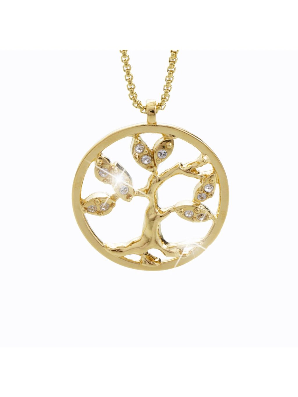 Náhrdelník Strom s kameny Swarovski® Crystal Gold