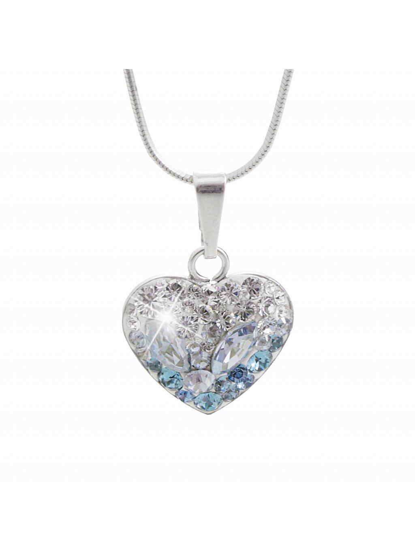92300181iceStříbrný náhrdelník Srdce osázený kameny Swarovski ledové