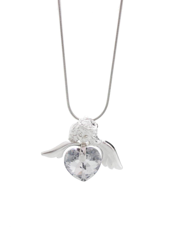 Náhrdelník Andělské srdce s kameny Swarovski® Crystal