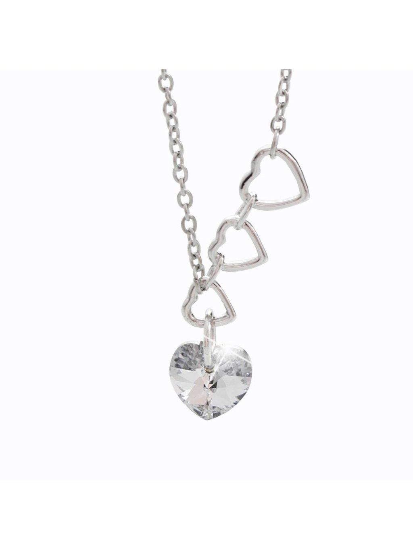 Náhrdelník 4 srdce s kameny Swarovski® Crystal