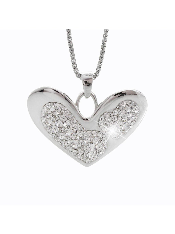 Náhrdelník Srdce s křišťálky Swarovski® Crystal