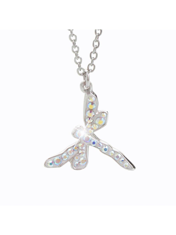 Náhrdelník Vážka s křišťálky Swarovski® Crystal AB