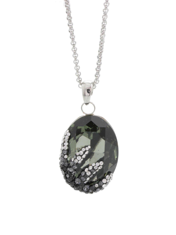 Náhrdelník Ovál s hvězdicí s kameny Swarovski® Black diamond