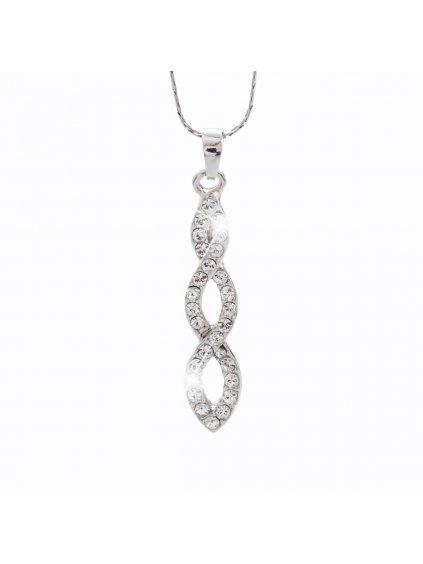 Náhrdelník Spirála s kameny Swarovski® Crystal
