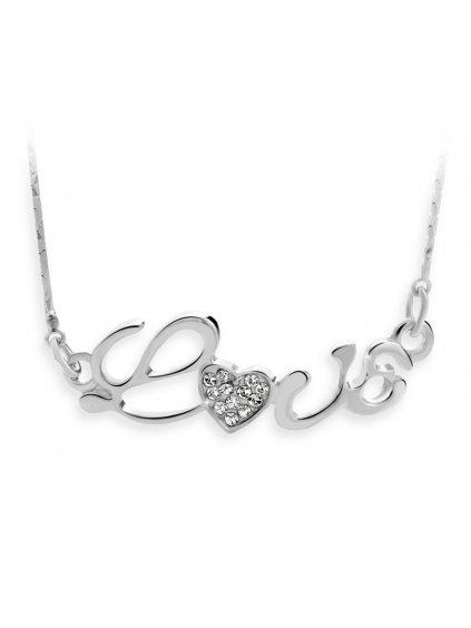 Náhrdelník Love s kameny Swarovski® Crystal