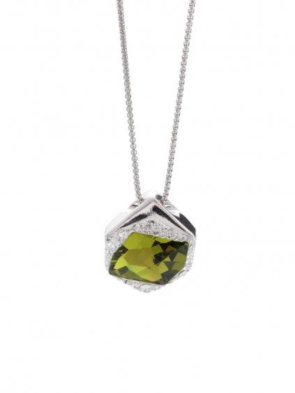 Náhrdelník Specific 2 s kameny Swarovski® Olivine