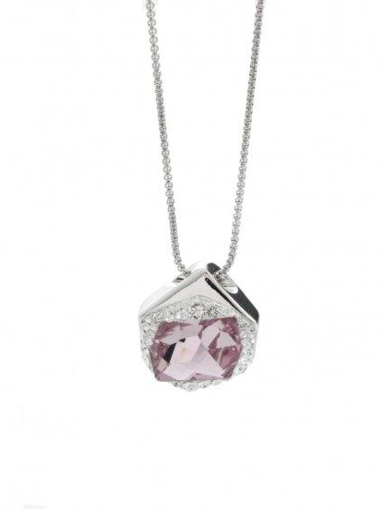 Náhrdelník  Specific 2 s kameny Swarovski® Rose